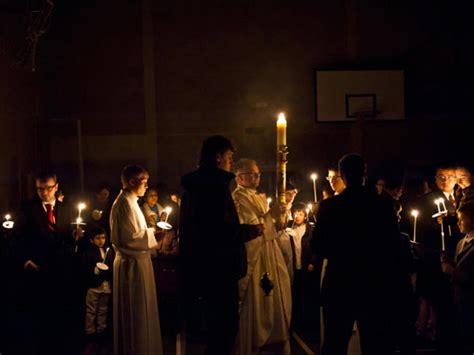 vigil lights catholic church easter vigil with neocatechumenal community liturgy of