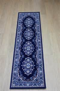 Navy Runner Rug Element Lancaster Navy Blue Traditional Rug Buy Rugs In The Uk