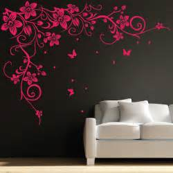 Flower Wall Art Stickers Butterfly Vine Flower Wall Art Stickers Decals 031