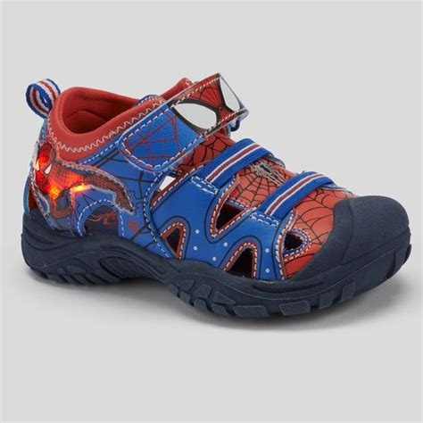 spiderman light up shoes spiderman boys light up sandals shopstyle shoes