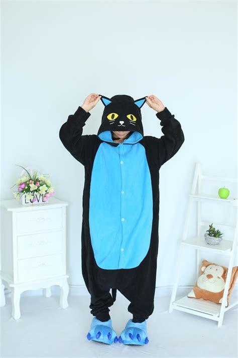 Piyama Black Cat midnight cat onesies black cat pajamas for unisex