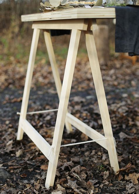 sawhorse legs for diy table diy sawhorse leg plywood table the merrythought