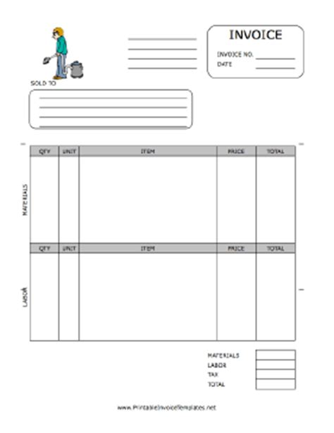 maintenance invoice template free building maintenance invoice template