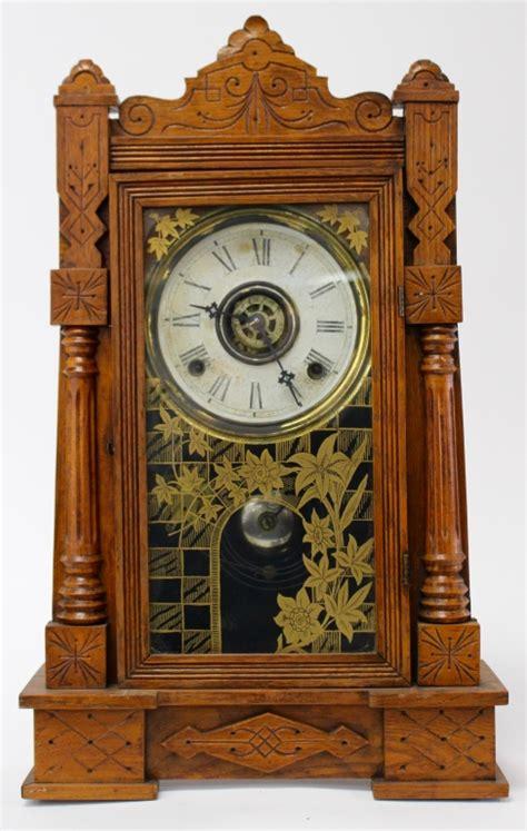 Gilbert Kitchen Clock by Antique Gilbert Mahogany Kitchen Clock