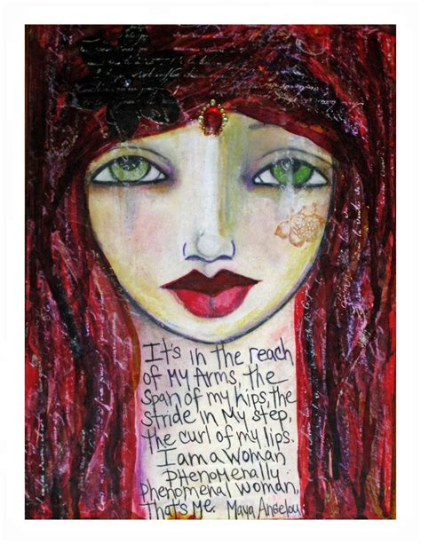 phenomenal woman painting fine art print mixed media