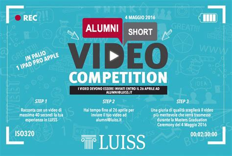 Video Sweepstakes - alumni short video competition news luiss guido carli