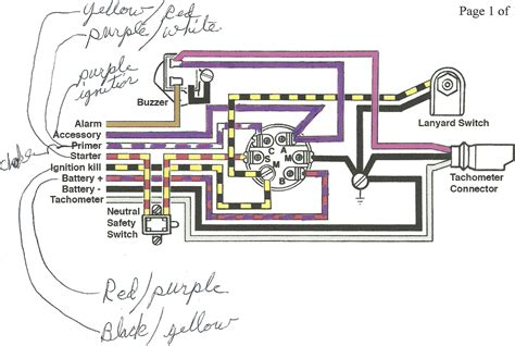 mercury outboard ignition switch wiring diagram evinrude