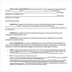 Simple Lease Agreement Template Free Rental Lease Agreement Samples Examples Amp Formats 8