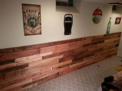 Pallet Wainscoting by Pallet Wainscoting Everything House