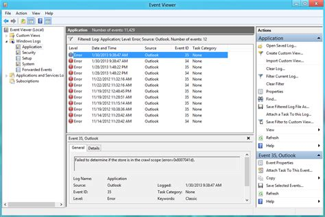 event viewer open and use in windows 7 windows 7 help why did outlook crash msoutlook info