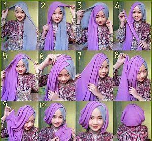 tutorial hijab turban layer 2 warna 15 tutorial hijab segi empat dua warna untuk pesta terbaru