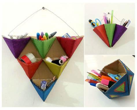 All Paper Crafts - crafty geometric organizers allfreepapercrafts