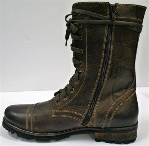 paolo vandini starking combat boots mens retro boots
