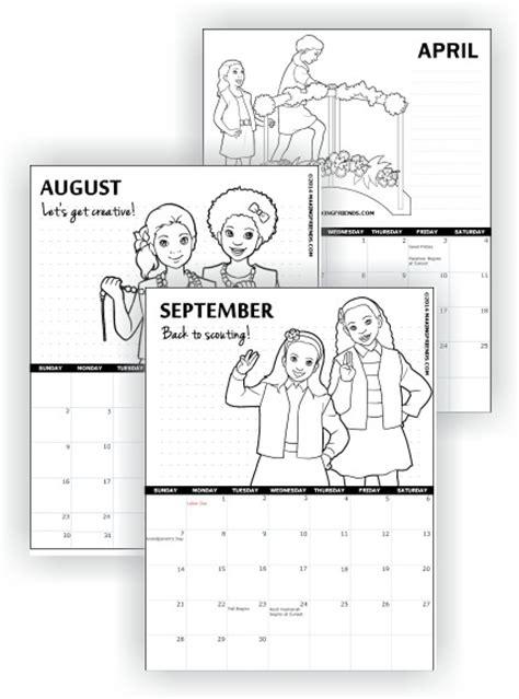 Girl Scout Calendar Template