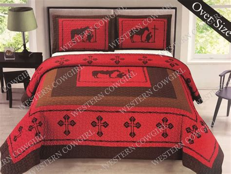 texas bedding set texas star praying cowboy western quilt bedspread