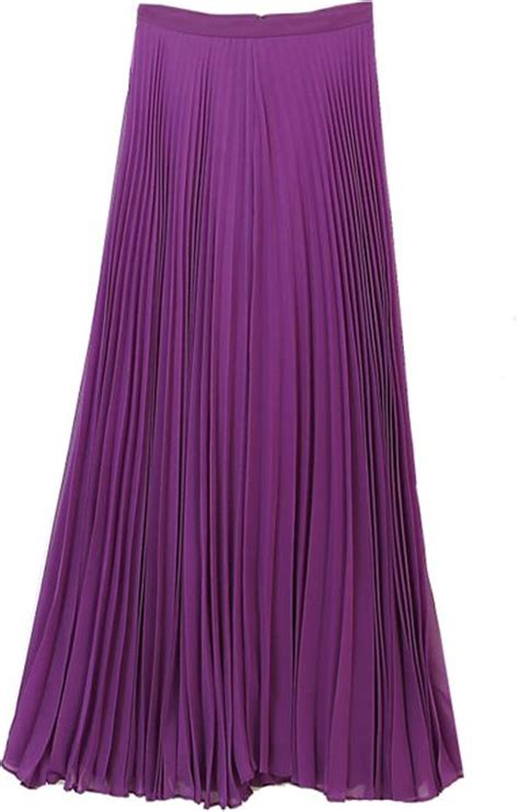 shannon pleated maxi skirt purple in purple