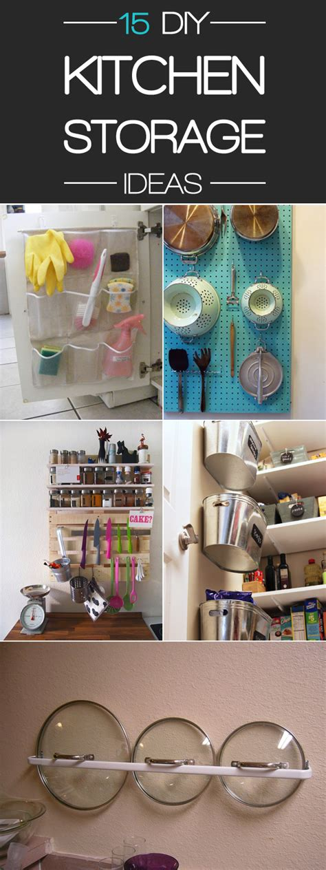 Handmade Storage Ideas - 15 smart diy storage ideas to keep your kitchen organized