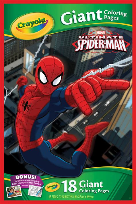 crayola giant coloring pages ultimate spider man marvel spider man giant colouring pages crayola toy
