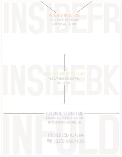 8 5 x 11 trifold template tri fold brochure template