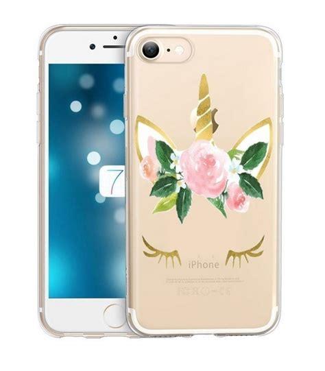 coque iphone 7 plus iphone 8 plus licorne liberty fleur dore unicorn coque4phone