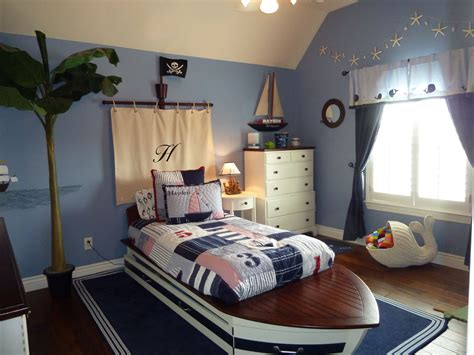 theme bed boys nautical pirate themed bedroom kid s room