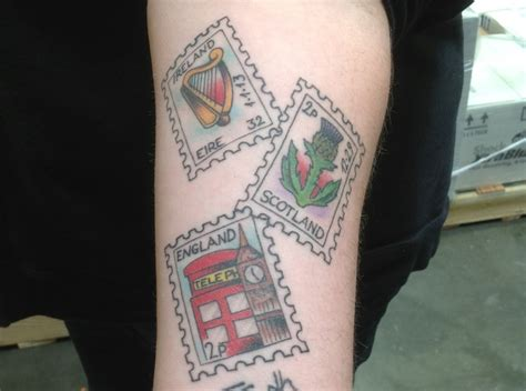 postage stamp tattoo tattoo pinterest