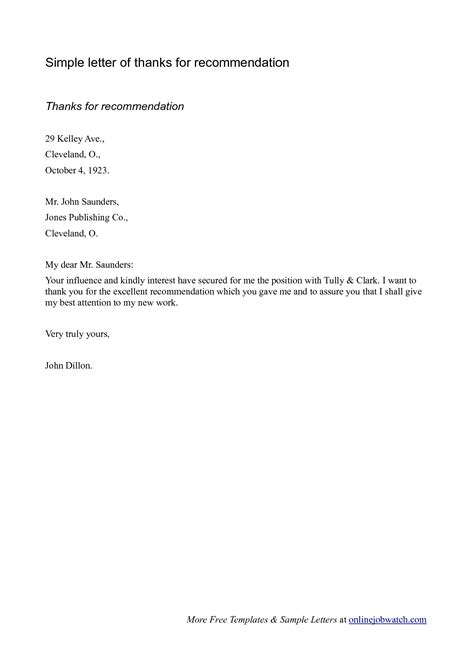 simple letter template sle of a simple recommendation letter oshibori info