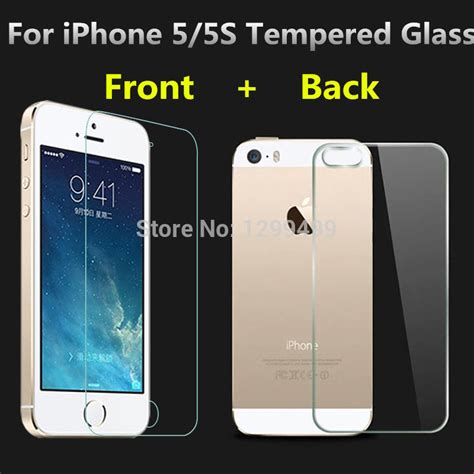 0 3mm 9h front back tempered glass for iphone 5 5s screen protector anti shatter 2014 new