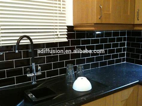 black tiles kitchen indelink com black glossy subway tiles 7 5 15cm 3x6 quot view balck glossy