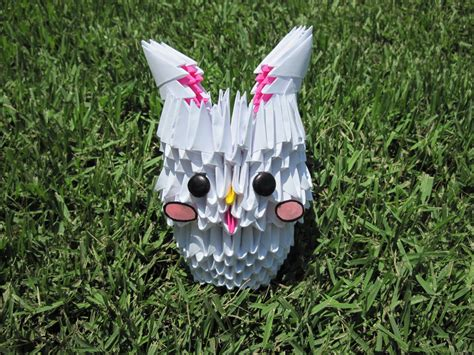 Origami 3d Rabbit - 3d origami bunny by mokonaisamokona on deviantart