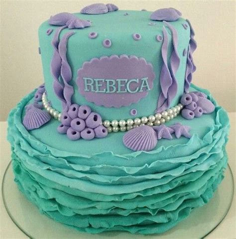 como decorar un pastel de la sirenita ariel pastel la sirenita pasteles infantiles pinterest la