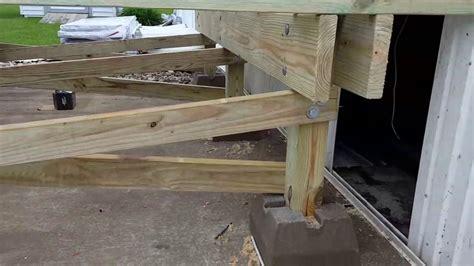 building a mobile mobile home park trailer deck building