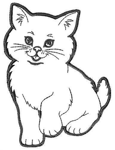 kitten outline coloring page kitten outline embroidery design crazy for cats