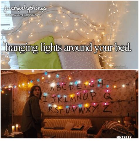 lights around bed hanging lights around your bed justgirlythings meme on me me