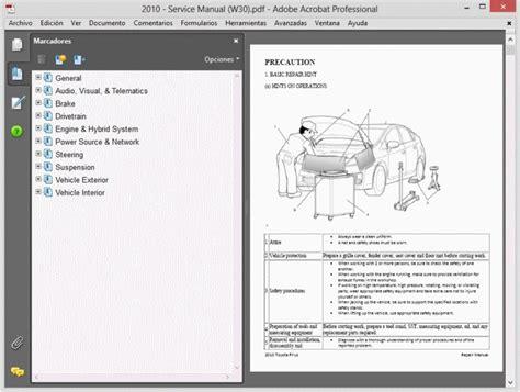 Toyota Prius 2001 2015 W11 W20 W30 Service Manual