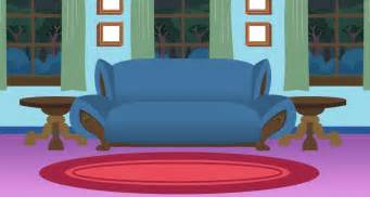 Livingroom Cartoon living room background frenzys