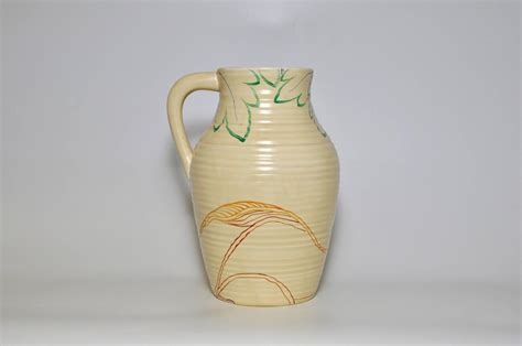 clarice cliff ceramic pottery jug pot vase in