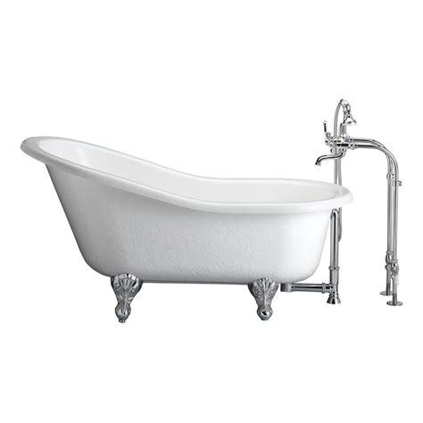Claw Bathtub Accessories barclay products 5 ft acrylic and claw slipper tub in white with polished chrome