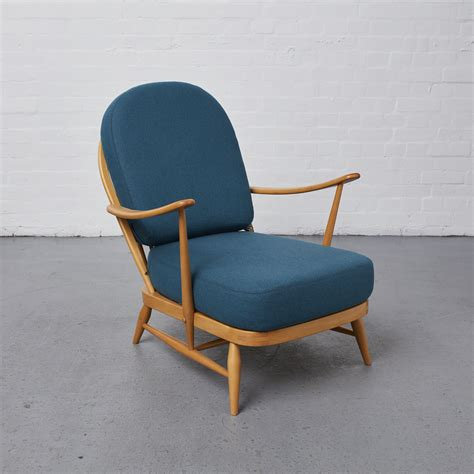 Ercol Upholstery by Recycled Teal Wool Vintage Ercol Chair Reloved