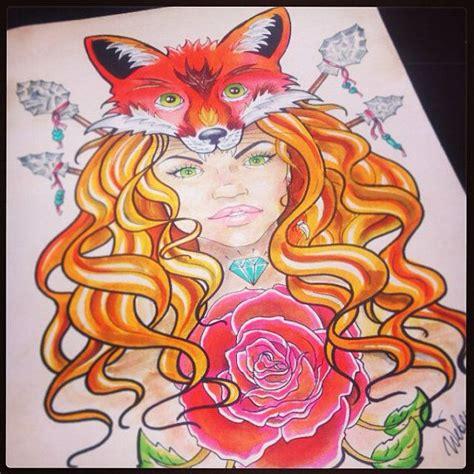 tattoo flash fox 9 nice fox girl tattoo designs