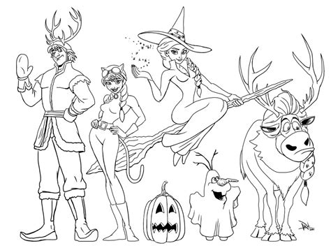 Coloring Pages Frozen Halloween | frozen halloween coloring page mommy in sports