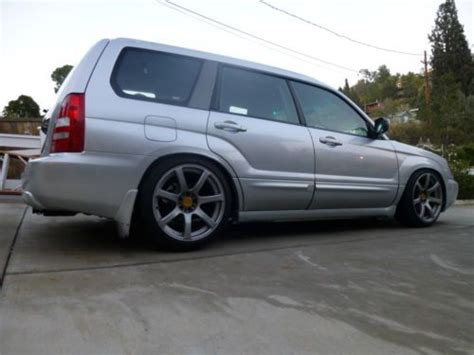 forester subaru slammed buy used 2004 subaru forester xt 5 speed stanced slammed