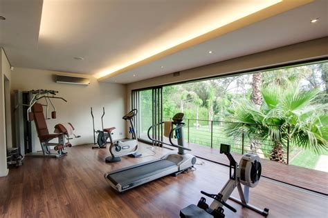 home exercise room design layout in home gym ideas home gym contemporary with stationary