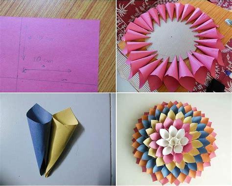 tata cara membuat bunga dari kertas origami cara membuat hiasan dinding berbentuk bunga dari kertas