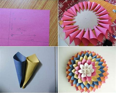 cara membuat bunga dari kertas simpel cara membuat hiasan dinding berbentuk bunga dari kertas
