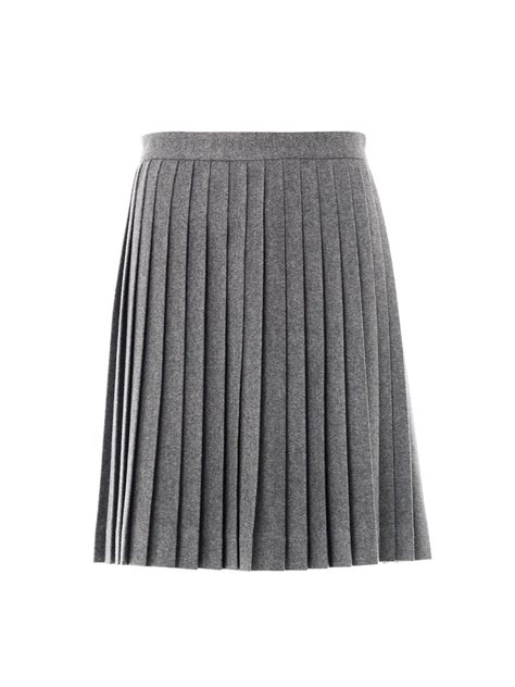 freda wool pleated skirt in gray grey lyst