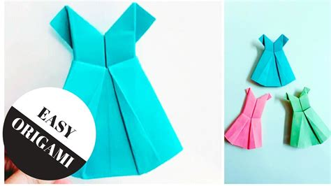 Easy Origami Dress - how to make a paper dress origami dress easy