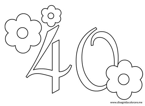40 Coloring Page by Forty Free Colouring Pages