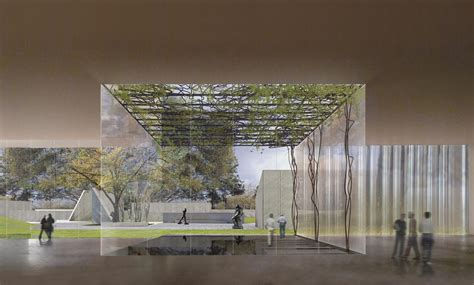 ground breaks  steven holls design  museum  fine
