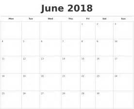 June 2018 Calendar Printable June 2018 Calendars Free